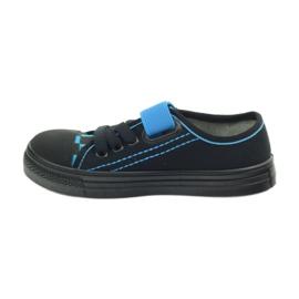 Kapcie trampki czarne Befado 429x007 niebieskie 2