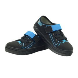 Kapcie trampki czarne Befado 429x007 niebieskie 3