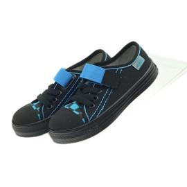 Kapcie trampki czarne Befado 429x007 niebieskie 4
