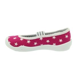 Befado obuwie dziecięce kapcie balerinki 193x063 białe różowe 2