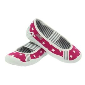 Befado obuwie dziecięce kapcie balerinki 193x063 białe różowe 4