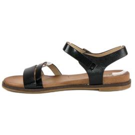 Licean Czarne sandały na sprzączkę 2