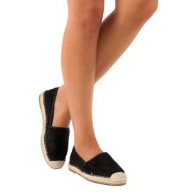 Sweet Shoes Czarne zamszowe espadryle 2