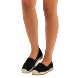 Sweet Shoes Czarne zamszowe espadryle 1