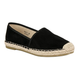 Sweet Shoes Czarne zamszowe espadryle 3