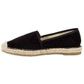 Sweet Shoes Czarne zamszowe espadryle 4