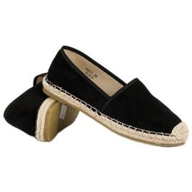 Sweet Shoes Czarne zamszowe espadryle 5