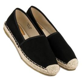 Sweet Shoes Czarne zamszowe espadryle 6