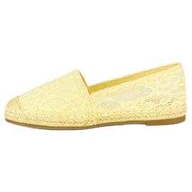 Seastar Żółte koronkowe espadryle 7