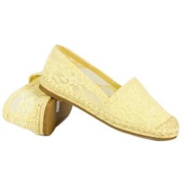 Seastar Żółte koronkowe espadryle 8