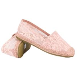 Seastar Różowe koronkowe espadryle 6