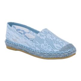 Seastar Błękitne koronkowe espadryle niebieskie 5