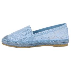 Seastar Błękitne koronkowe espadryle niebieskie 6