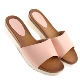 Klapki damskie różowe H10 Pink 3
