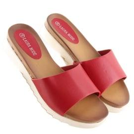 Klapki damskie czerwone H10 Red 3