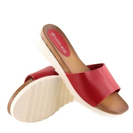 Klapki damskie czerwone H10 Red 4