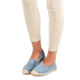 Best Shoes Niebieskie zamszowe espadryle 7