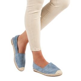 Best Shoes Niebieskie zamszowe espadryle 2