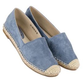 Best Shoes Niebieskie zamszowe espadryle 3