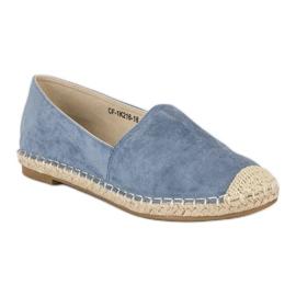 Best Shoes Niebieskie zamszowe espadryle 4