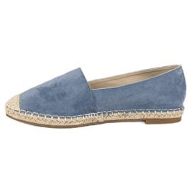 Best Shoes Niebieskie zamszowe espadryle 5