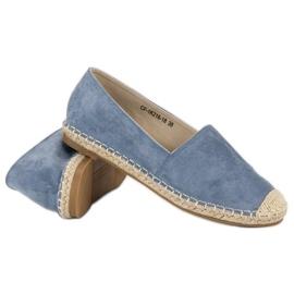 Best Shoes Niebieskie zamszowe espadryle 6