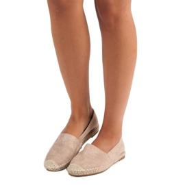 Best Shoes Beżowe zamszowe espadryle beżowy 6