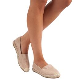 Best Shoes Beżowe zamszowe espadryle beżowy 1