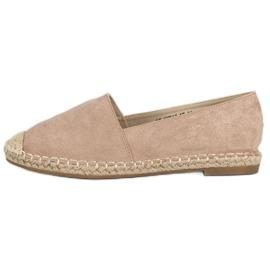 Best Shoes Beżowe zamszowe espadryle beżowy 2