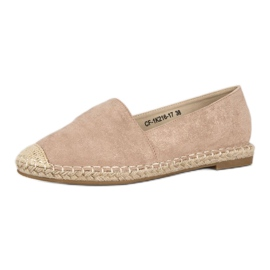 Best Shoes Beżowe zamszowe espadryle beżowy 3