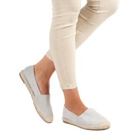 Best Shoes Szare zamszowe espadryle 2