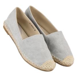 Best Shoes Szare zamszowe espadryle 6