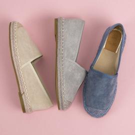 Best Shoes Szare zamszowe espadryle 1