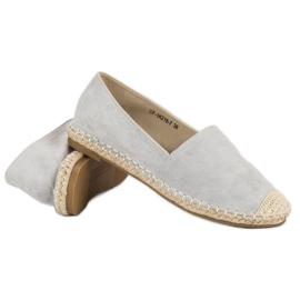 Best Shoes Szare zamszowe espadryle 5