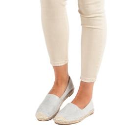 Best Shoes Szare zamszowe espadryle 7