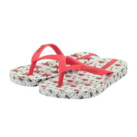 Klapki buty dziecięce japonki do wody Ipanema 81264 białe czerwone 4