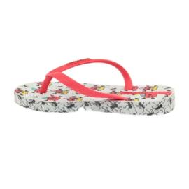 Klapki buty dziecięce japonki do wody Ipanema 81264 białe czerwone 3