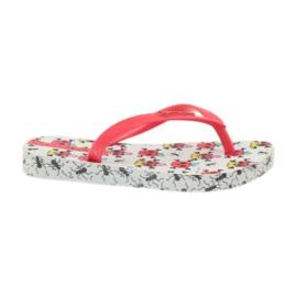 Klapki buty dziecięce japonki do wody Ipanema 81264 białe czerwone 1