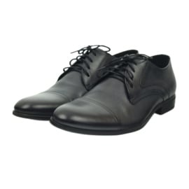 Półbuty buty męskie skórzane Pilpol 1674 szare 4