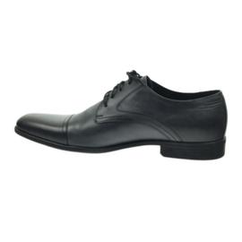 Półbuty buty męskie skórzane Pilpol 1674 szare 3