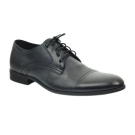 Półbuty buty męskie skórzane Pilpol 1674 szare 2