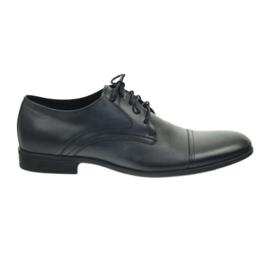 Półbuty buty męskie skórzane Pilpol 1674 szare 1
