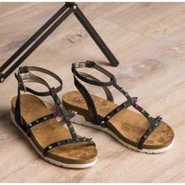 Sandałki Na Koturnie KYLIE czarne 6