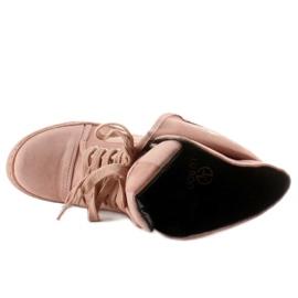 Sneakersy zamszowe B12-22 Pink różowe 3