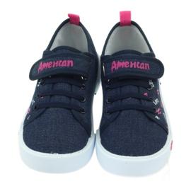 American Club Trampki tenisówki różowe usta American 4
