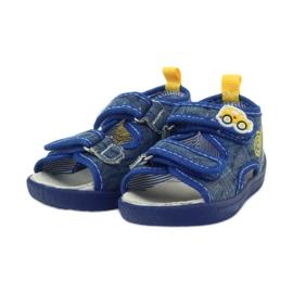 American Club American sandałki buty dziecięce wkładka skórzana niebieskie żółte 3