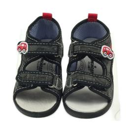 American Club American sandałki buty dziecięce wkładka skórzana czarne szare czerwone 4