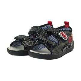 American Club American sandałki buty dziecięce wkładka skórzana czarne szare czerwone 3