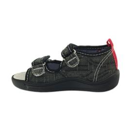 American Club American sandałki buty dziecięce wkładka skórzana czarne szare czerwone 2