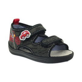 American Club American sandałki buty dziecięce wkładka skórzana czarne szare czerwone 1